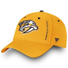 size 40 dfba1 e903c Men s Nashville Predators Fanatics Branded Gold Authentic Pro Rinkside  Speed Flex Hat