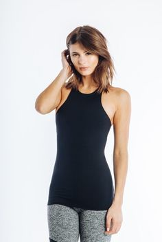 The Bowie Top - Black - INFLOWSTYLE  - 1