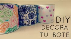 DIY: decora tu bote ( facil )