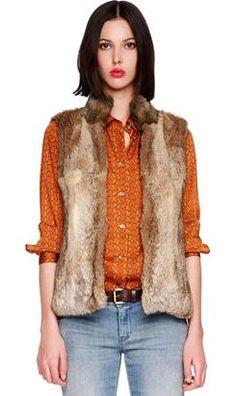 Michael Kors Fur Vest- Completes the look! Jennifer Jones, Rabbit Fur Vest, Fall Bags, Michael Kors, Vest Outfits, Her Style, Autumn Fashion, Menswear, How To Wear
