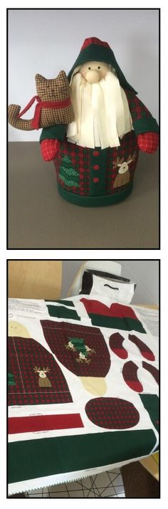 Log cabin santa claus patchwork - papá noel tela - manualidades sewing DIY Handmade by @martexu