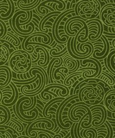 New Zealand fabric with Ponga Koru pattern in green tones. Made in New Zealand. Maori Patterns, Textile Patterns, Creative Background, Red Background, Maori Designs, Nz Art, Maori Art, Kiwiana, Patchwork Fabric