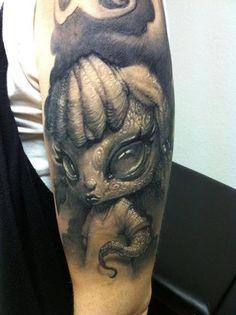 Evil little girl tattoo