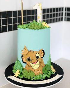 Safari Birthday Cakes, Baby First Birthday Cake, Dinosaur Birthday Cakes, Lion King Birthday, Simba Bebe, Lion King Theme, Cake Story, Lion King Baby Shower, Lion King Cakes