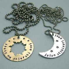 His and Hers Dothraki Khal/Khaleesi necklaces