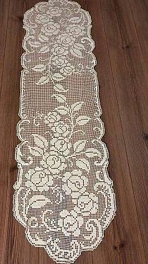 Crochet Bedspread Pattern, Free Crochet Doily Patterns, Filet Crochet Charts, Crochet Doilies, Crochet Lace, Crochet Table Runner, Crochet Tablecloth, Thread Crochet, Crochet Stitches