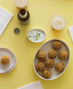 Kimchi Fried Rice Balls with a Garlic and Green Onion Aioli