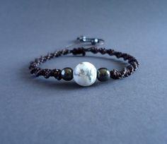 Beads macrame bracelet, natural stone, beaded friendship bracelet, boho knot cord bead bracelet, gemstone healing bracelet, gift for women