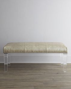 "perfect for dressing room covered with velvet animal print ""Serendipity""+Bench+by+Massoud+at+Horchow."