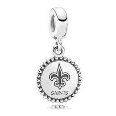 New Orleans Saints Pandora Women's Unforgettable Moment Sterling Silver Charm - $65.00
