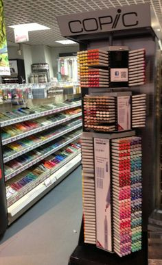 First stop during the Purge Stationary Store, Cute Stationary, Art Supplies Storage, Craft Supplies, Marker Storage, Copic Sketch, Cute School Supplies, School Stationery, Copic Markers