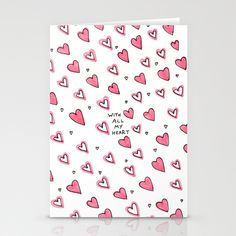 With All My Heart Stationery Cards by Ornaart - $12.00