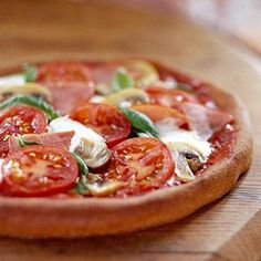 Whole Wheat Pizza with the Works