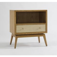love  Karl Side Table - French Oak/Parchment