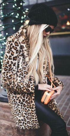 #Faux #Fur #Leopard by Barefoot Blonde