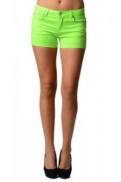 Women's Green Neon Shorts