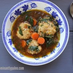 Chicken Meatballs in Onion Broth (with veggies)