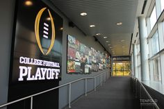 Center of College Football Corridor at #ESPN #Bristol #EnvironmentalDesign TENFOLD