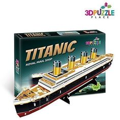 3D PUZZLE TITANIC BOAT Royal Mail Ship (JP Morgan's Marine) 3D-Puzzle-Place Cubic-fun T4012h 35 Pieces -- Continue to the product at the image link.