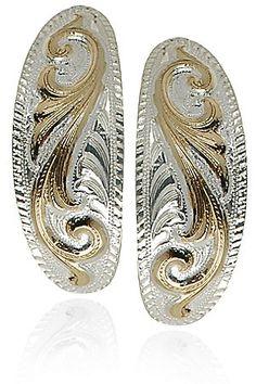 Montana Silversmiths Silver Scroll Earrings