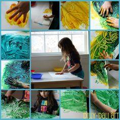 Dilly-Dali Art: Process Art {Fingerpainting}