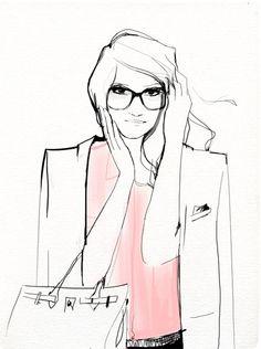 So simple. So beautiful / Illustration by Garance Doré Garance Dore Illustration, Illustration Sketches, Portrait Illustration, Cartoon Sketches, Moda Fashion, Fashion Art, Fashion Design, Female Fashion, Fashion Kids