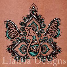 Regal Peacock- Digital Print File - Henna Mehndi Art - Office, home decor, gift, choose a size, can be framed.. $15.00, via Etsy.