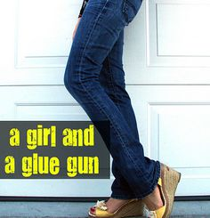 30f959415b7cf2 A girl and a glue gun  diy skinny jeans and other jean alteration links.