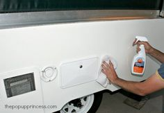 Safe for your exterior AND the vinyl decals we're adding. How to Clean & Care for Your Pop Up Camper Exterior - The Pop Up Princess Popup Camper Remodel, Camper Renovation, Camper Remodeling, New Pop Up Campers, Happy Campers, Aliner Campers, Rv Campers, Pop Up Tent Trailer, Tent Trailers
