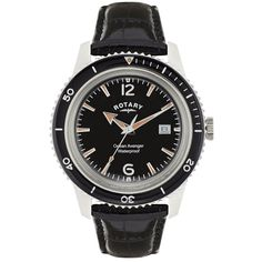 4c39bbc34 Rotary Men's Quartz Watch with Black Dial Analogue Display and Black  Leather Strap GS02694/04: Amazon.co.uk: Watches