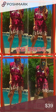 "2B 2B Bebe bodacious!, awesome button down shirt dress. How many ways to ""Rock"" this fashion bristly is endless. Love Bebe love 2b fabulous. Pristine! 2b bebe Dresses"