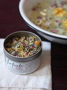 Free People with Fig + Yarrow Botanical Facial Steam at Free People Clothing Boutique.  *By Free People with Fig + Yarrow  *Organic Blend of Dried: Linden Blossoms, Chrysanthemum Blossoms, Lavender, Chamomile, Rose Petals, Nettle Leaves, Marigold, and Red Clover Blossoms.