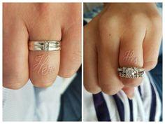 Je t'ai dans la peau ❤️ Wedding band tattoo, his hers tattoo