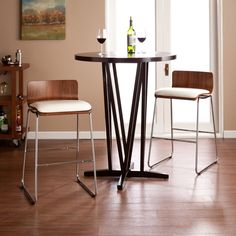 Home Walnut Chairs N Table 2 Person Bistro Dining Table White Padded Stools New #Upton #Modern #Chairs #Table #Dining #DiningTable