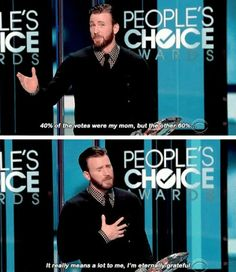 Chris Evans is amazing!!!