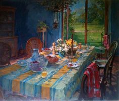 "Original Painting ""Breakfast Room"" by Susan Ryder"