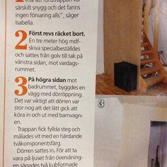 Furutrappa byggs in steg för steg (Aftonbladet Härligt Hemma nr 9 2012)