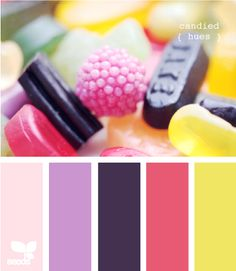 These colors would be pretty for summer - I like the green and pink with the dark purple