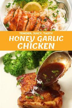 Chicken Thights Recipes, Chicken Wing Recipes, Healthy Cooking, Cooking Recipes, Healthy Recipes, Food Platters, Garlic Chicken, Soul Food, Food Hacks