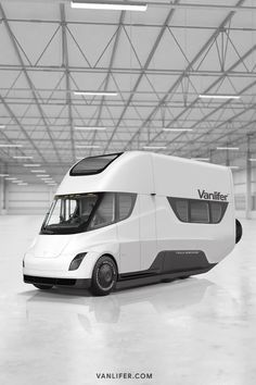 The Tesla Semi could be the future of fully-electric long-range motorhomes, campervans and RVs. Vanlifer has designed a concept. Future Transportation, Transportation Technology, Truck Design, Auto Design, Kayak Fishing, Saltwater Fishing, Small Campers, Campervan Interior, Camping Kitchen