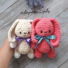 Soft bunny amigurumi pattern
