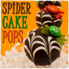 Halloween Treats - Spider Cake Pops - sugarkissed.net