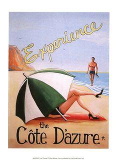 Vintage Cote d'Azure poster