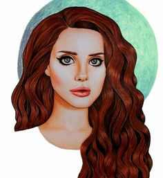 Lana Del Rey #LDR #art by Peter Curtis