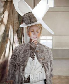 Beautiful Editorial in Vogue Korea, Featuring our AVA Coat.  여인의 환상 시간 여행 :: VOGUE.com  #Vogue#korea#fur#coat#winter#autumn#style#fashion#taupe#cream#woman#womansfashion#lamb#goat#kidskin