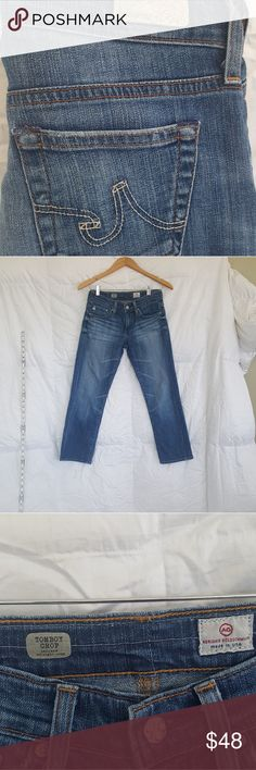 AG  Jeans size 25 AG Jeans size 25 Tom boy relaxed straight crop AG Andriano Goldschmied Jeans