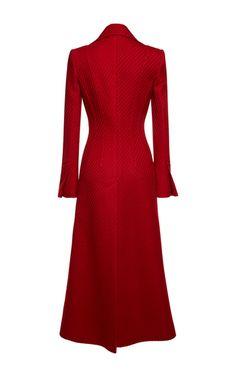Denham Textured Stretch Wool Coat by ROLAND MOURET for Preorder on Moda Operandi