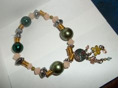 Earthy Beaded Bracelet by bowsngifts on Etsy, $3.00