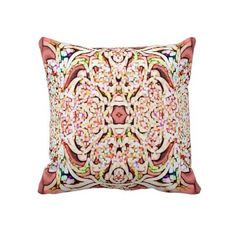 Peach Pixelized American MoJo Pillows