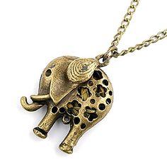 cobre antiguo hueco de salida elefante collar – USD $ 2.69